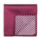 Burgundy Polka Dot Pocket Square #AB-TPH1018/4