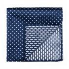 Navy Polka Dot Pocket Square #AB-TPH1018/2