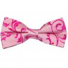 Hot Pink Swirl Leaf Wedding Bow Tie #AB-BB1000/5
