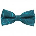 Teal Modern Scroll Wedding Bow Tie #AB-BB1002/5