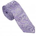 Lilac Royal Swirl Slim Wedding Tie #AB-C1001/1