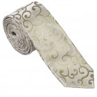 Sage Green Royal Swirl Slim Wedding Tie #AB-C1001/4