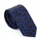 Navy on Black Royal Swirl Slim Tie #AB-C1001/9