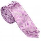 Lilac Vintage Vine Slim Wedding Tie #AB-C1004/1