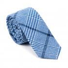 Regatta Blue Check Slim Tie #AB-C1007/2