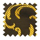 Gold on Black Swirl Leaf Swatch #AB-SWA1000/15
