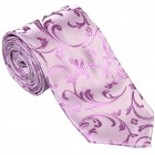 Lilac Swirl Leaf Wedding Tie #AB-T1000/8