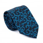 Teal on Black Royal Swirl Tie #AB-T1001/12