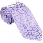 Lilac Royal Swirl Wedding Tie #AB-T1001/1
