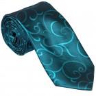 Teal Modern Scroll Wedding Tie #AB-T1002/5