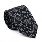 Moonlight Black Budding Paisley Tie #AB-T1003/5