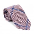 Burgundy Check Tie #AB-T1007/3