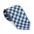 Navy Blue Neat Check Tie #AB-T1015/1