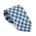 Blue Neat Check Tie #AB-T1015/4