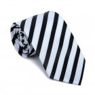Black and White Stripe Football Tie #AB-T1019/1
