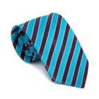 Wine and Turquoise Stripe Football Tie #AB-T1019/3