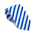 Royal Blue and White Stripe Football Tie #AB-T1019/7