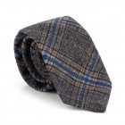 Grey Overcheck Wool Tie #AB-T1020/2