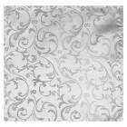 Silver Swirl Leaf Wedding Pocket Square #AB-TPH1000/10