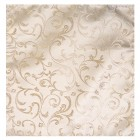 Cream Swirl Leaf Wedding Pocket Square #AB-TPH1000/11