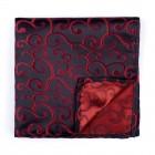 Wine on Black Royal Swirl Pocket Square #AB-TPH1001/10
