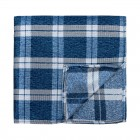Navy Blue Wide Check Pocket Square #AB-TPH1014/1