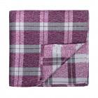 Burgundy Wide Check Pocket Square #AB-TPH1014/2