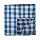 Navy Blue Neat Check Pocket Square #AB-TPH1015/1
