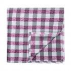 Burgundy Neat Check Pocket Square #AB-TPH1015/3