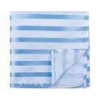 Sky Blue and White Stripe Football Pocket Square #AB-TPH1019/6