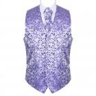 Purple Swirl Leaf Wedding Waistcoat #AB-WWA1000/19