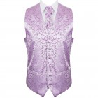 Lilac Swirl Leaf Wedding Waistcoat #AB-WWA1000/8
