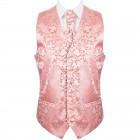 Coral Swirl Leaf Wedding Waistcoat #AB-WWA1000/9