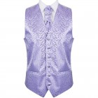 Lilac Royal Swirl Wedding Waistcoat #AB-WWA1001/1