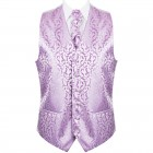 Lilac Vintage Vine Formal Waistcoat #AB-WWA1004/1