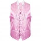 Pink Vintage Vine Formal Waistcoat #AB-WWA1004/4