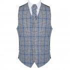 Licorice Black Check Waistcoat #AB-WWA1007/1